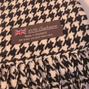 Womens Cashmere scarf made in Scotland 12×64